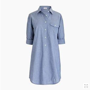 J Crew Chambray Tunic Shirt Medium Light Blue
